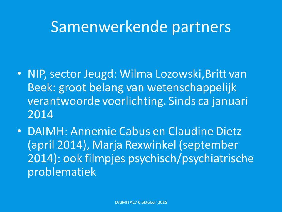 Samenwerkende partners Mei 2014 Groeigids Anneke Kesler Okt 2014 Opvoeden.nl Els Verkerk Daarnaast contacten met o.a.