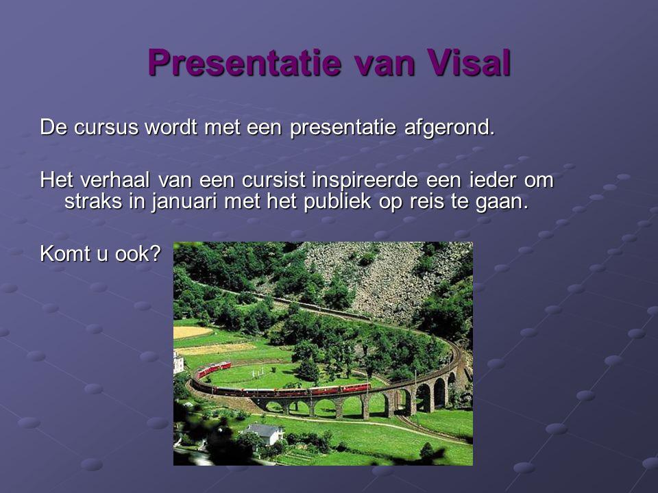 Presentatie van Visal De cursus wordt met een presentatie afgerond.