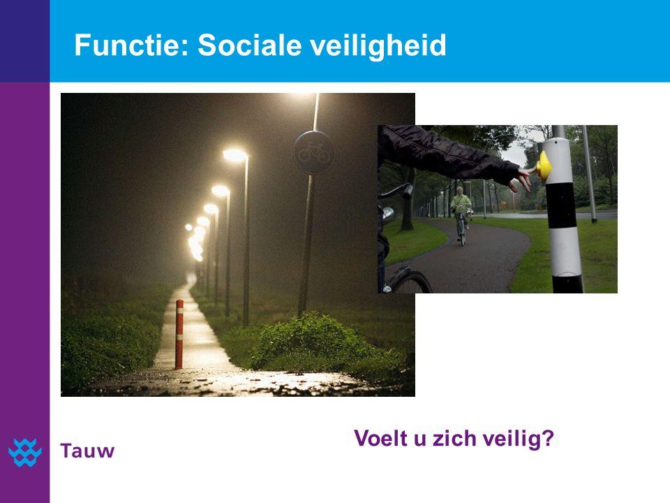 Functie: Sociale veiligheid Voelt u zich veilig