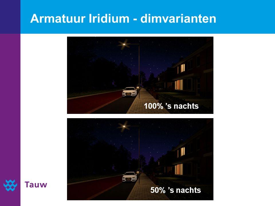 Armatuur Iridium - dimvarianten 100% 's nachts 50% 's nachts