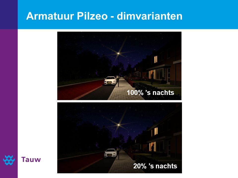 Armatuur Pilzeo - dimvarianten 20% 's nachts 100% 's nachts