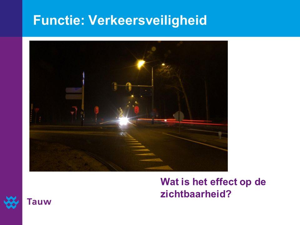 Functie: Verkeersveiligheid Wat is het effect op de zichtbaarheid
