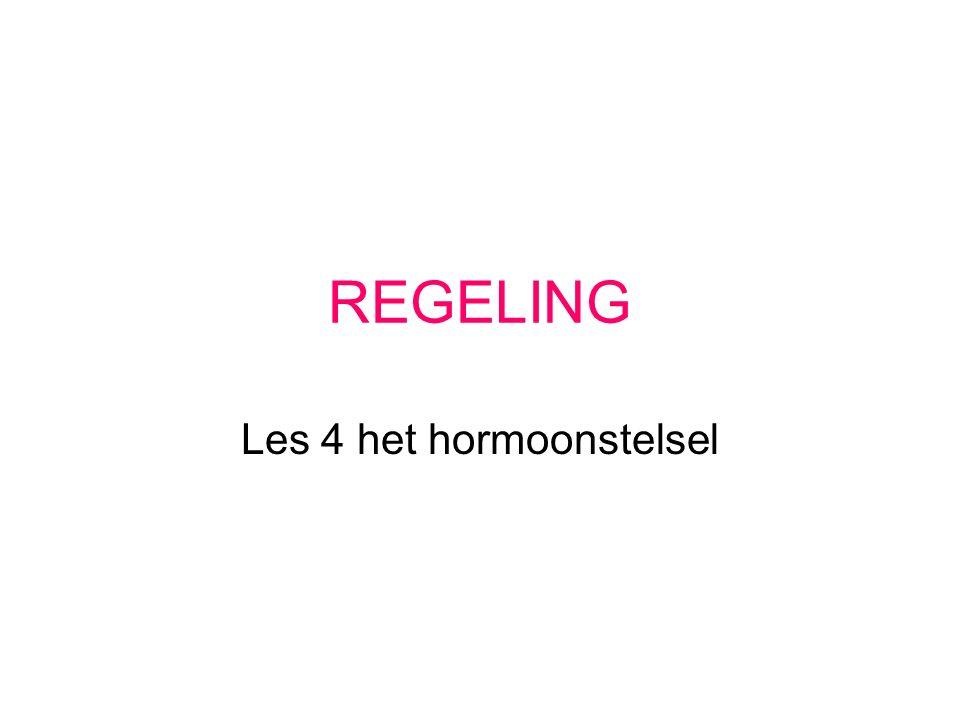 REGELING Les 4 het hormoonstelsel