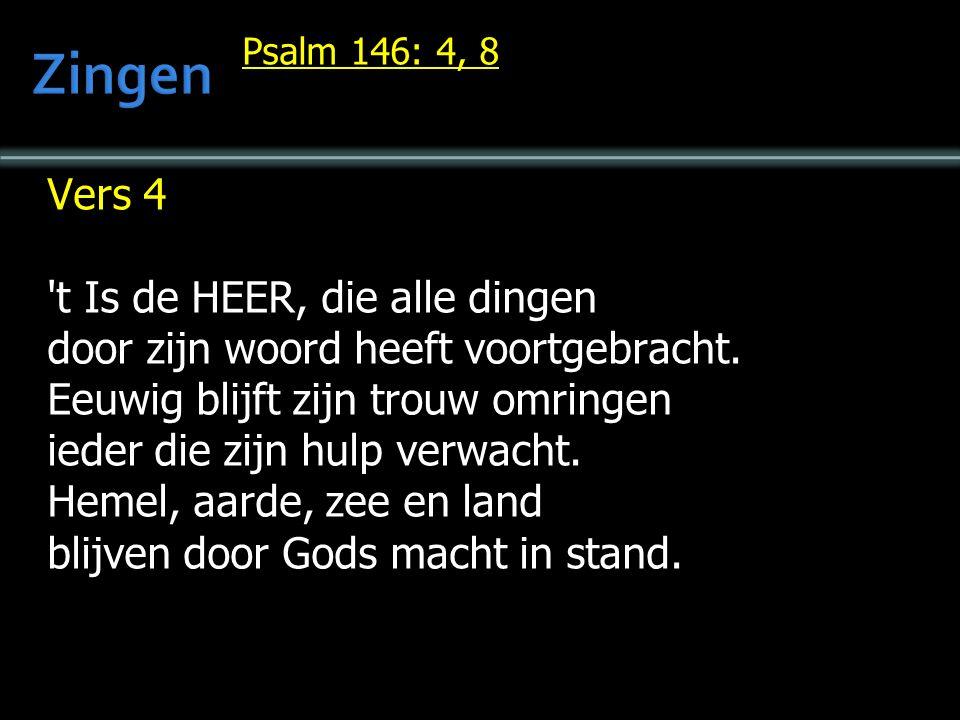  Lb.110  Tekst: Zondag 4  Preek  Gz.115  Geloofsbelijdenis  Ps.