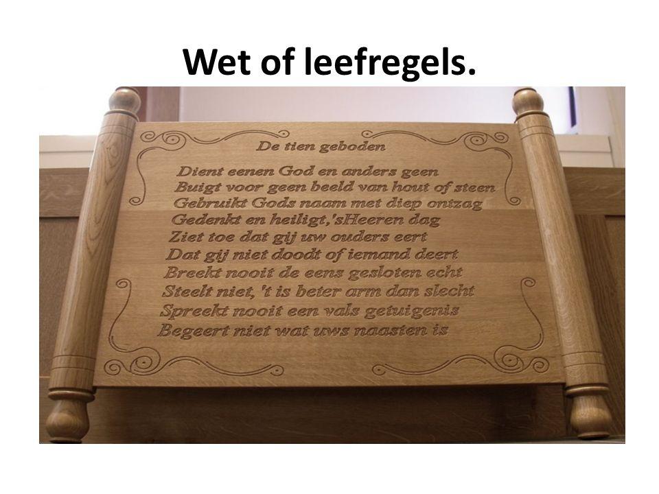 Wet of leefregels.