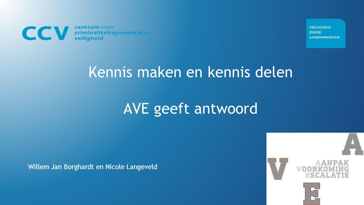 Kennis maken en kennis delen AVE geeft antwoord Willem Jan Borghardt en Nicole Langeveld