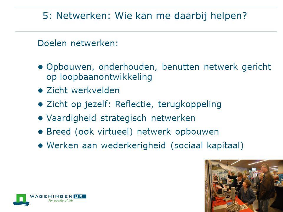 Les 7: Netwerkhotspots  Waar kom je mensen tegen.