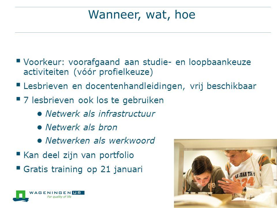  Aanmelden: Hermien.Miltenburg@wur.nlHermien.Miltenburg@wur.nl  Materiaal: http://www.lob- vo.nl/kennisbank/professionaliseren/lesbrieven- netwerkenhttp://www.lob- vo.nl/kennisbank/professionaliseren/lesbrieven- netwerken  Filmpje: https://www.youtube.com/watch?v=a08IsaB8s2Y https://www.youtube.com/watch?v=a08IsaB8s2Y  Oefening: Wat heb je nodig/Wat heb je in de aanbieding 19