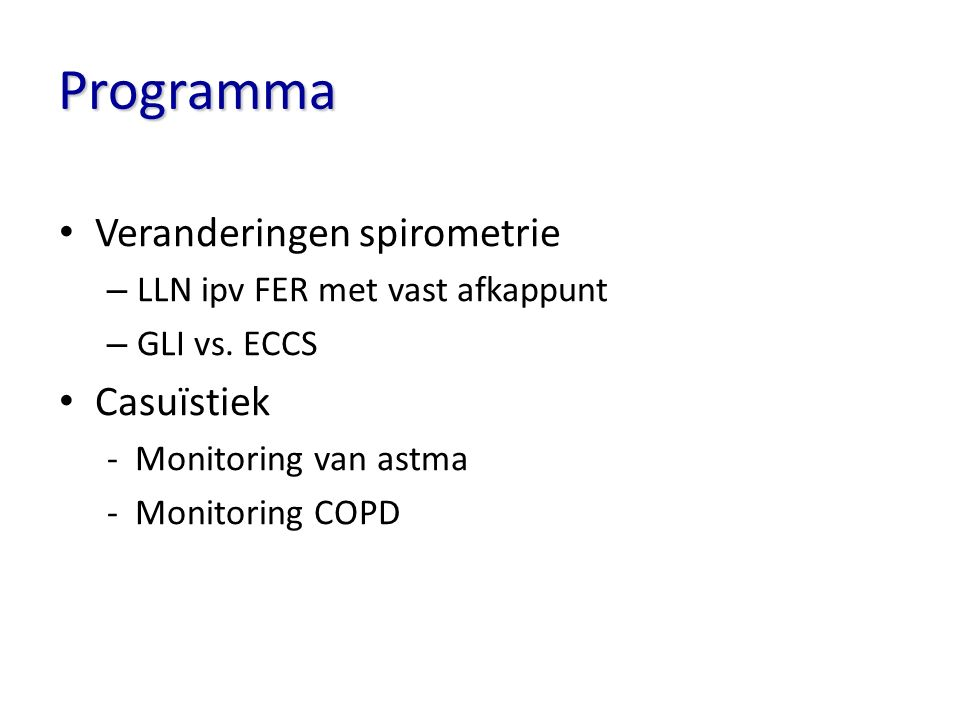 Astmacontrole; iedereen is goed gecontroleerd?