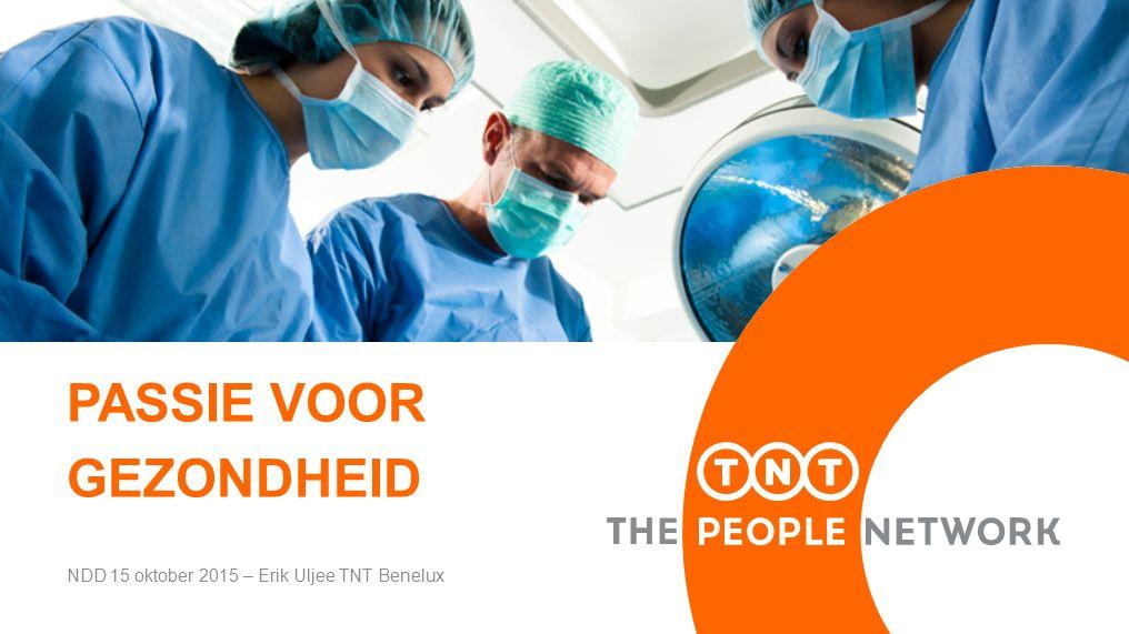 PASSIE VOOR GEZONDHEID NDD 15 oktober 2015 – Erik Uljee TNT Benelux