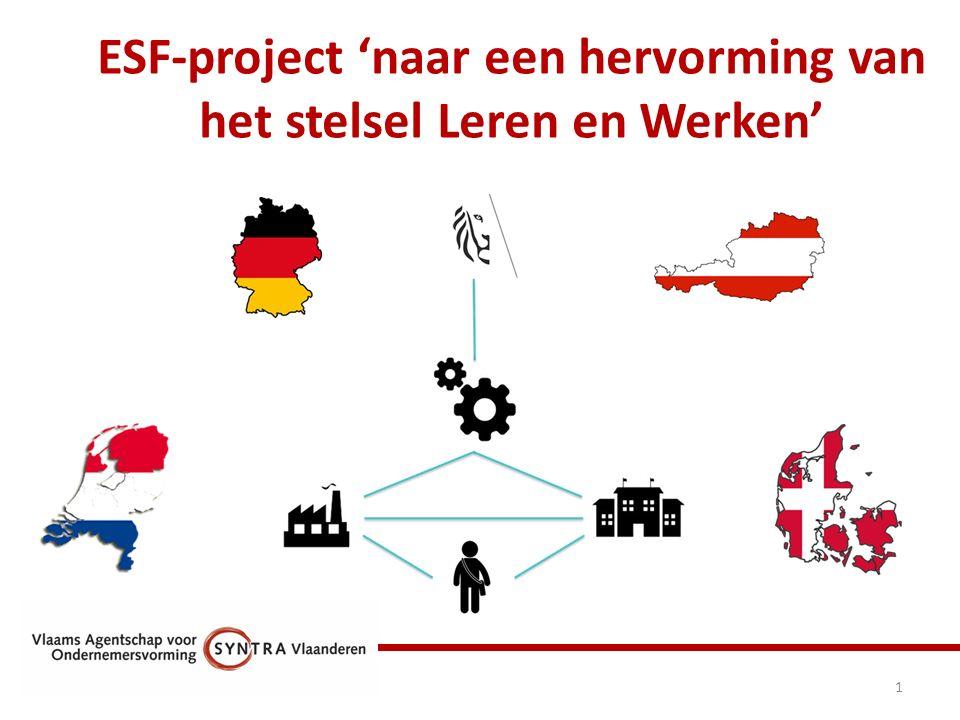ESF-project 'naar een hervorming van het stelsel Leren en Werken' 1