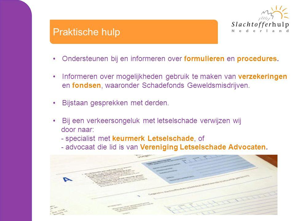 Ondersteunen bij en informeren over formulieren en procedures.