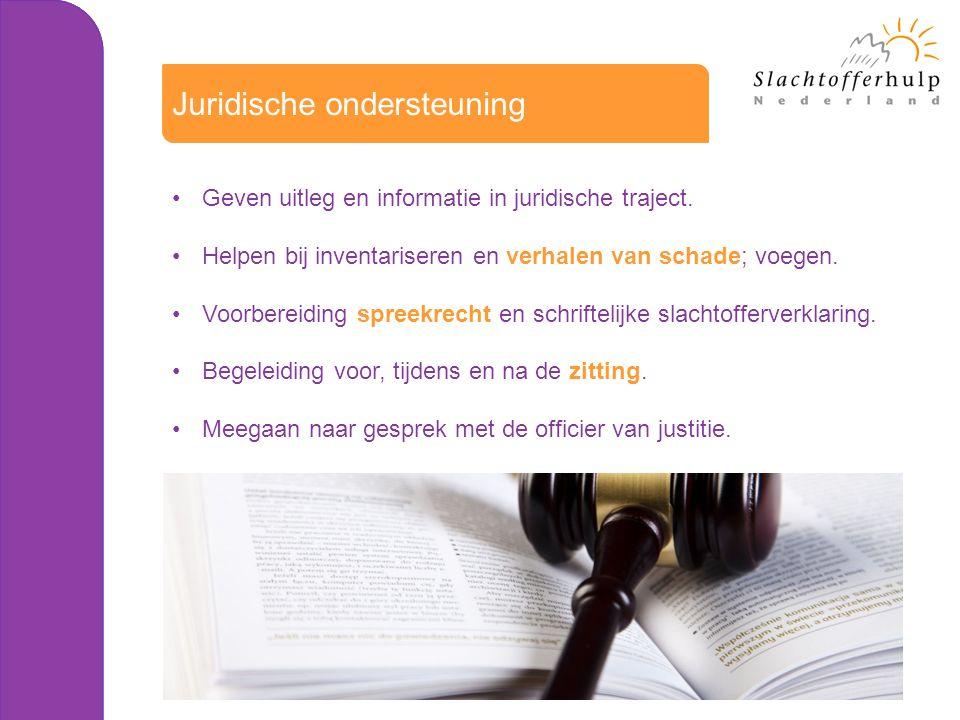 Geven uitleg en informatie in juridische traject.