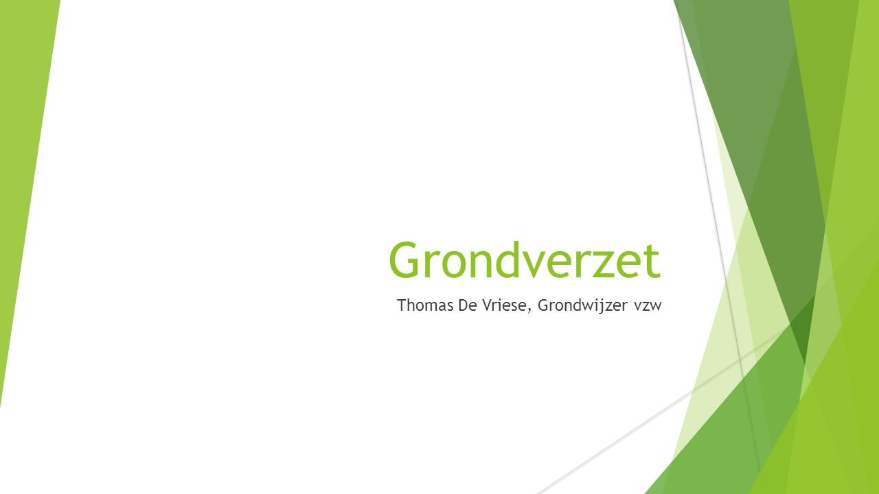 Grondverzet Thomas De Vriese, Grondwijzer vzw