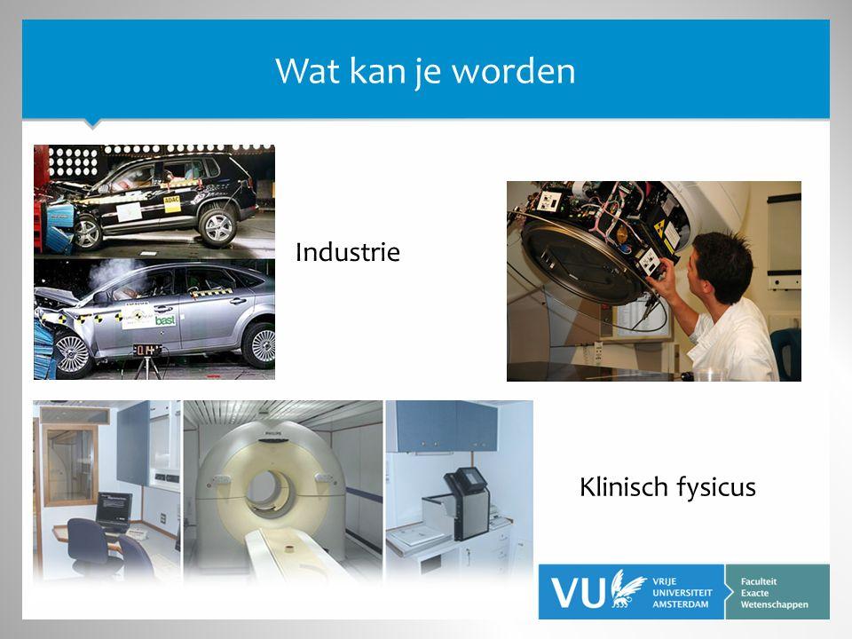 Klinisch fysicus Industrie Wat kan je worden