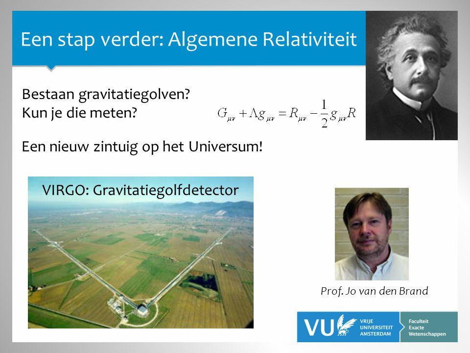Prof. Jo van den Brand Bestaan gravitatiegolven. Kun je die meten.