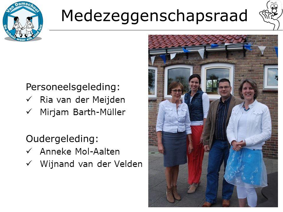 Personeelsgeleding: Ria van der Meijden Mirjam Barth-Müller Oudergeleding: Anneke Mol-Aalten Wijnand van der Velden