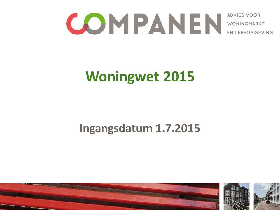 Woningwet 2015 Ingangsdatum 1.7.2015 30