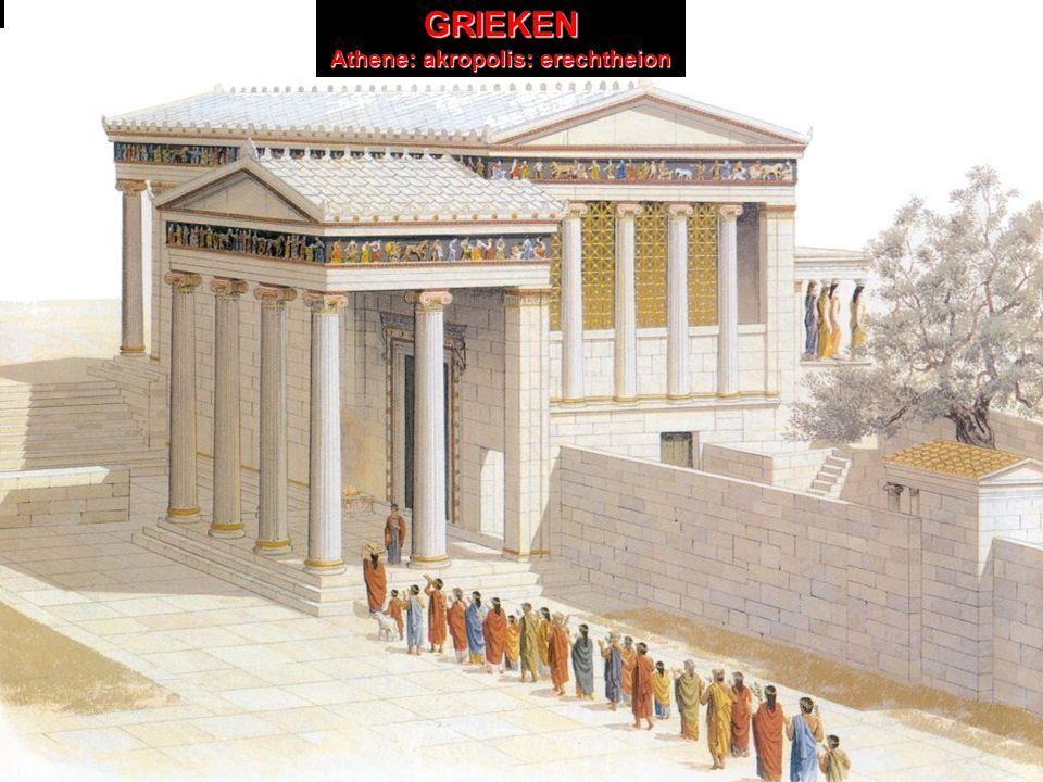 GRIEKEN Athene: akropolis GRIEKEN Athene: akropolis: erechtheion