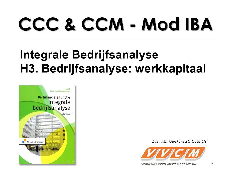 1 CCC & CCM - Mod IBA Integrale Bedrijfsanalyse H3.