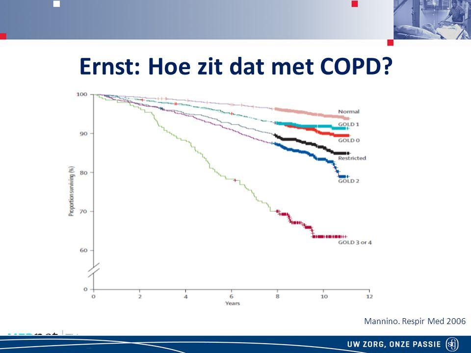 Ernst: Hoe zit dat met COPD? Mannino. Respir Med 2006
