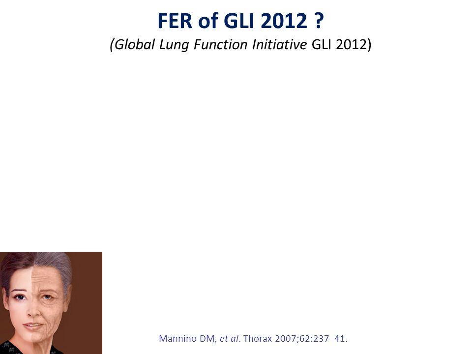 Mannino DM, et al.Thorax 2007;62:237–41. FER of GLI 2012 .