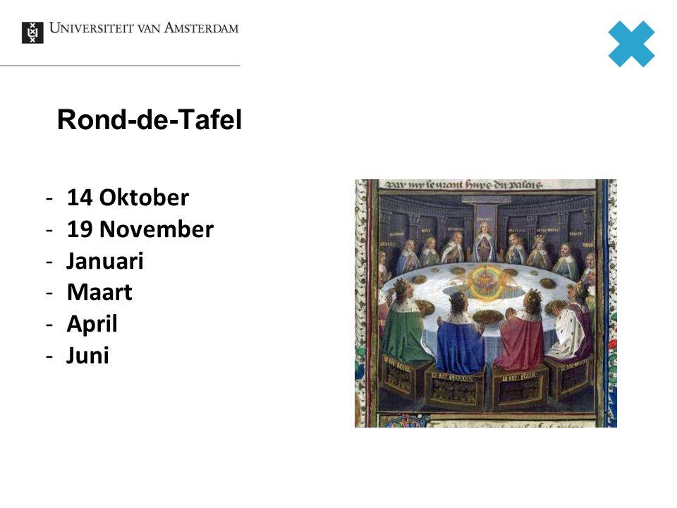 Rond-de-Tafel -14 Oktober -19 November -Januari -Maart -April -Juni