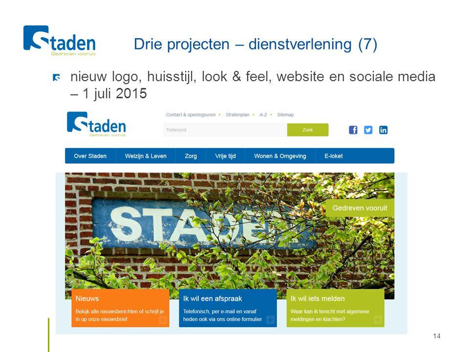 Drie projecten – dienstverlening (7) nieuw logo, huisstijl, look & feel, website en sociale media – 1 juli 2015 15/10/2015Durven met dienstverlening14