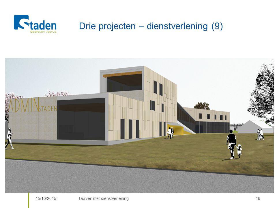 Drie projecten – dienstverlening (9) 15/10/2015Durven met dienstverlening16