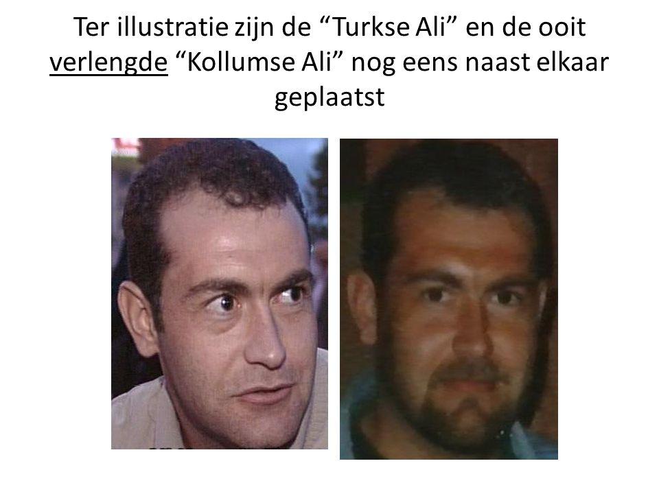 Ter illustratie zijn de Turkse Ali en de ooit verlengde Kollumse Ali nog eens naast elkaar geplaatst