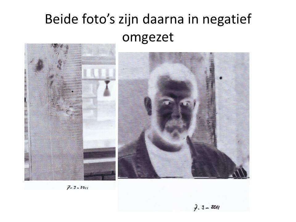 Beide foto's zijn daarna in negatief omgezet
