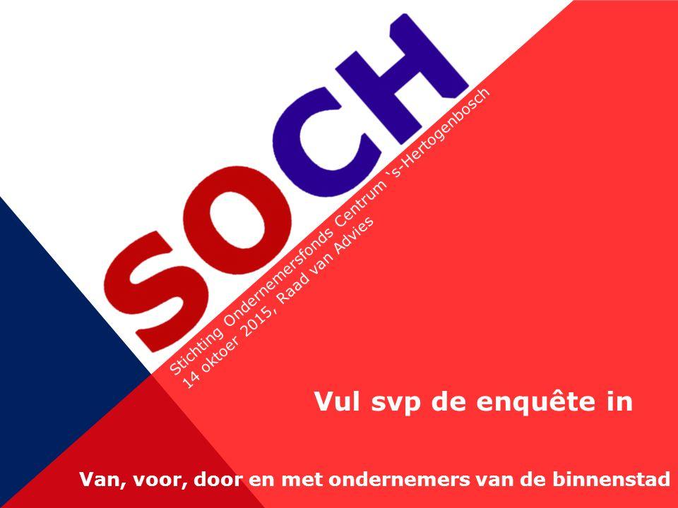 Stichting Ondernemersfonds Centrum 's-Hertogenbosch 14 oktoer 2015, Raad van Advies Van, voor, door en met ondernemers van de binnenstad Vul svp de enquête in
