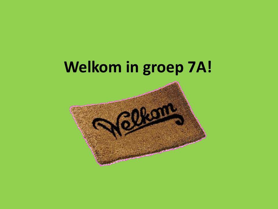 Welkom in groep 7A!