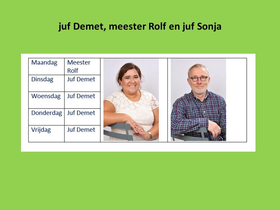 juf Demet, meester Rolf en juf Sonja