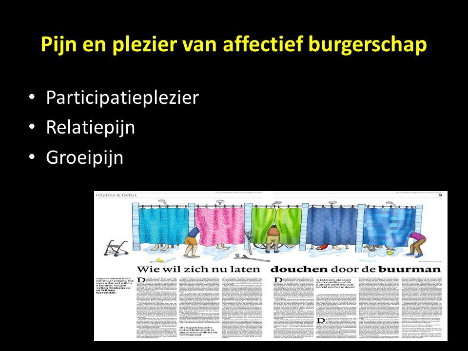 Pijn en plezier van affectief burgerschap Participatieplezier Relatiepijn Groeipijn