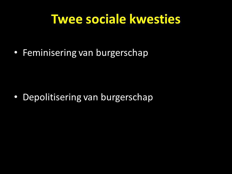 Twee sociale kwesties Feminisering van burgerschap Depolitisering van burgerschap