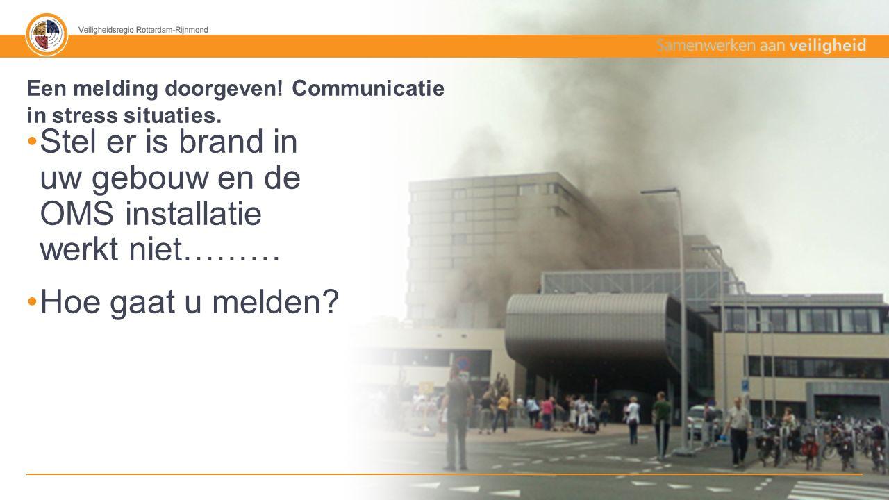 30% - 70% Tekst + afbeelding 112 melding woningbrand persoon blijkt binnen te zijn en er niet uit te kunnen (geluidsfragment) Een melding doorgeven.