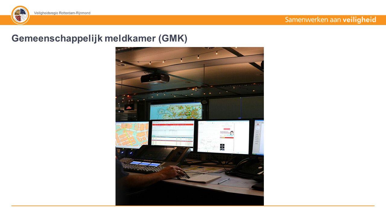70% - 30% Tekst + afbeelding Politie Ambulance / AZRR Brandweer 480.000 meldingen 2014 Gemeenschappelijk meldkamer (GMK)