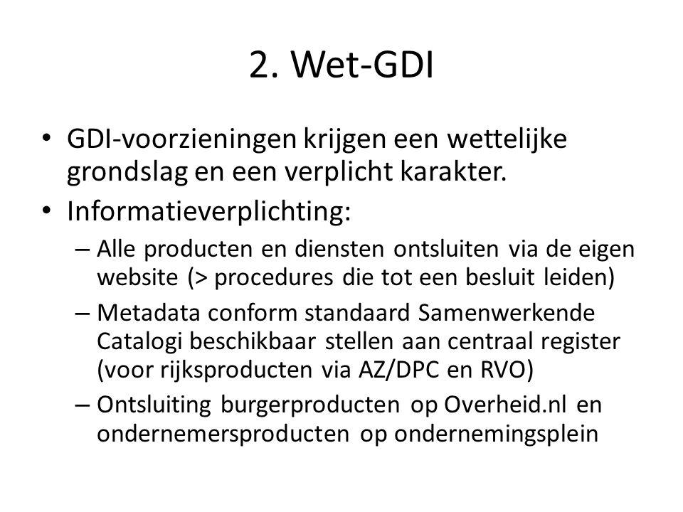 2. Wet-GDI GDI-voorzieningen krijgen een wettelijke grondslag en een verplicht karakter.