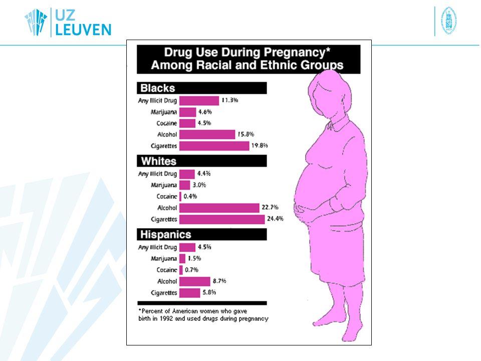opioid maintenance dosing in pregnancy Verschillende meningen ivm detoxicificatie eventueel eerste trimester > tweede trimester miskraam/preterme arbeid niet aangeraden zwangerschap zelf PK effecten analogie SSRI/anti-epileptica eventueel dosis opdrijven 2 e -3 e trim Borstvoeding ?