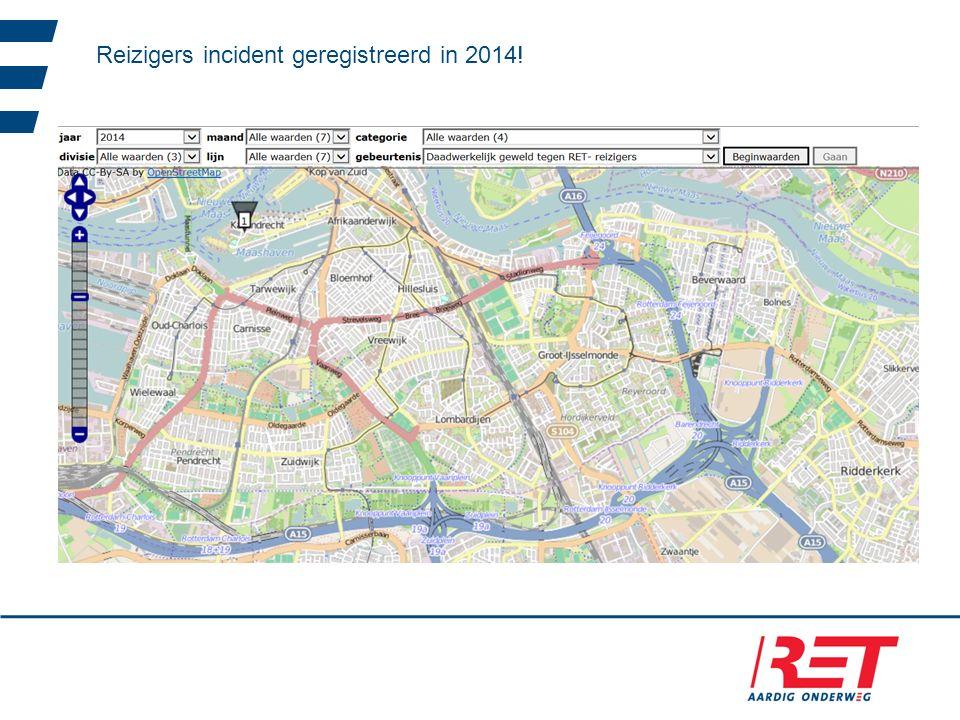 Reizigers incident geregistreerd in 2014!