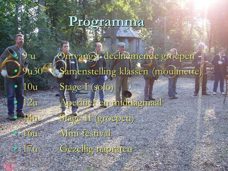 27-10-2015www.degezellen.be4 Beoogd doel Publiek laten kennismaken met ons mooi instrument.Publiek laten kennismaken met ons mooi instrument. Stagedag