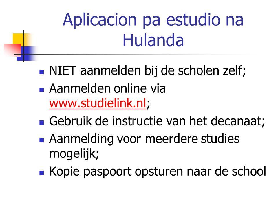 Buska vivienda na Hulanda Online aanmelden bij kamerburo's in de stad van studie.