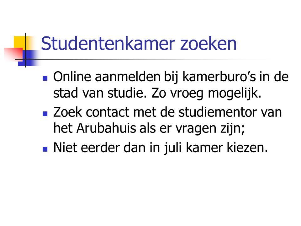 Studentenkamer zoeken Online aanmelden bij kamerburo's in de stad van studie.
