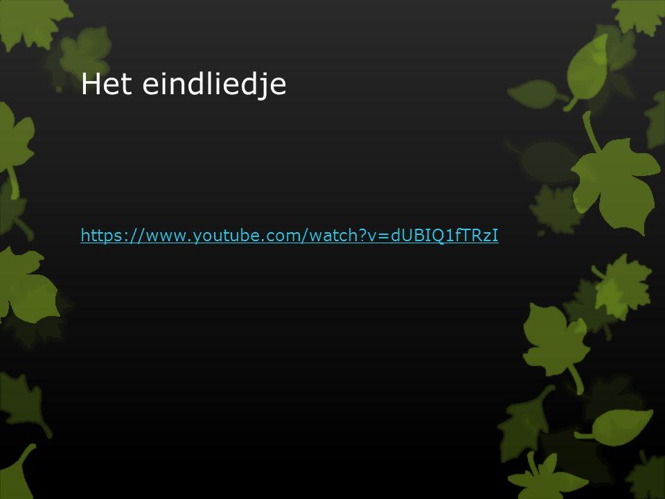 Het eindliedje https://www.youtube.com/watch?v=dUBIQ1fTRzI