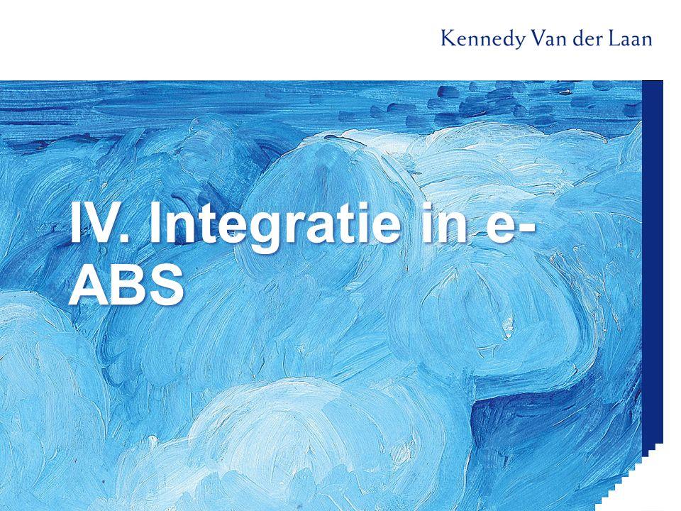 IV. Integratie in e- ABS