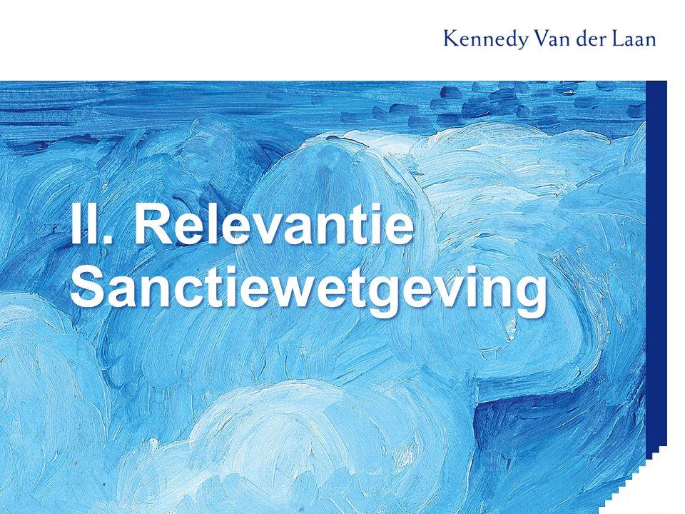 II. Relevantie Sanctiewetgeving
