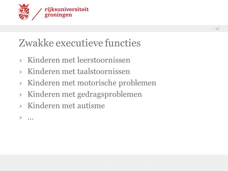 Zwakke executieve functies ›Kinderen met leerstoornissen ›Kinderen met taalstoornissen ›Kinderen met motorische problemen ›Kinderen met gedragsproblemen ›Kinderen met autisme ›… | 13