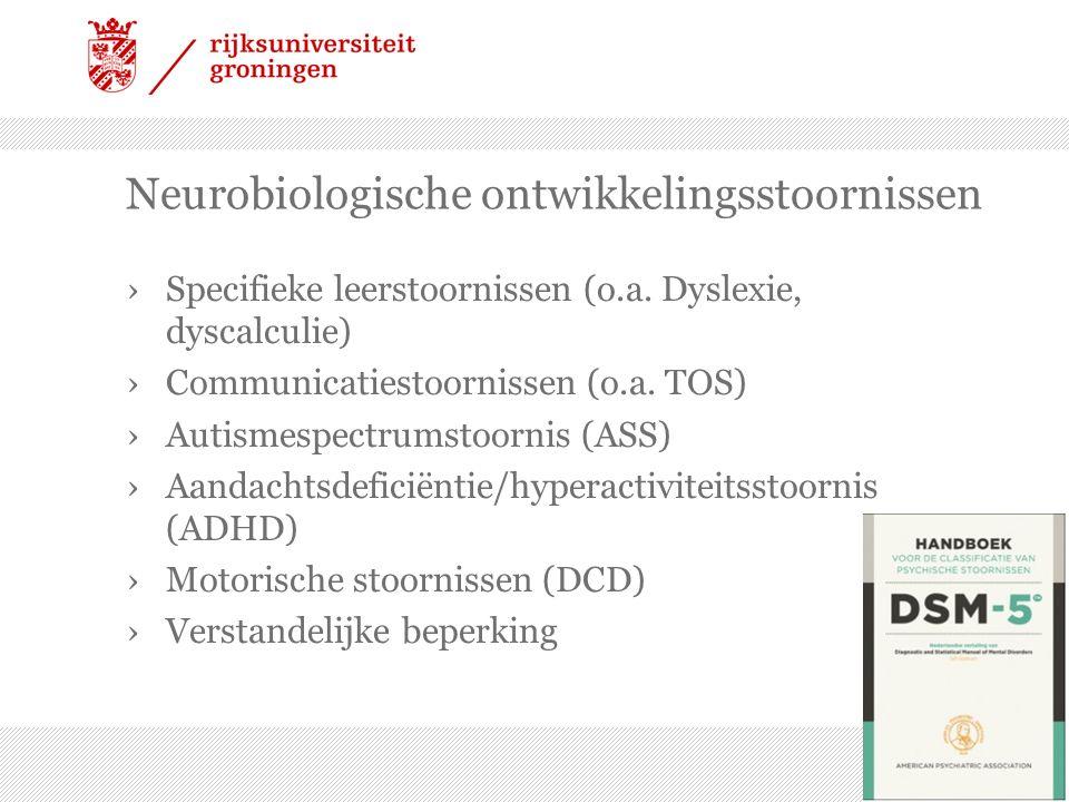 Neurobiologische ontwikkelingsstoornissen ›Specifieke leerstoornissen (o.a.
