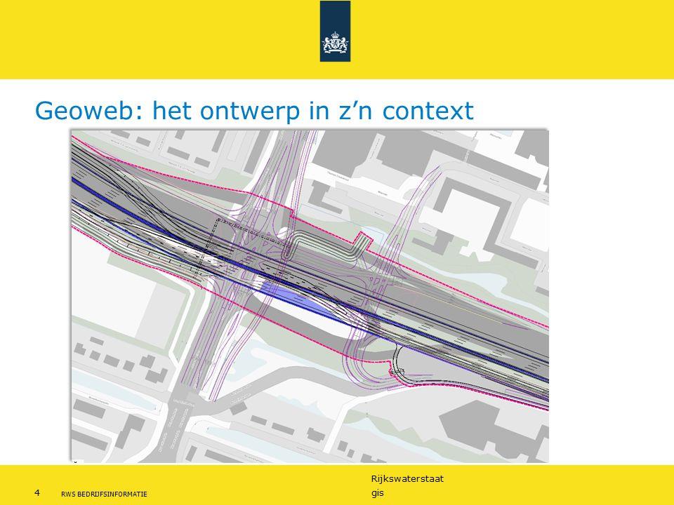 Rijkswaterstaat 4gis RWS BEDRIJFSINFORMATIE Geoweb: het ontwerp in z'n context